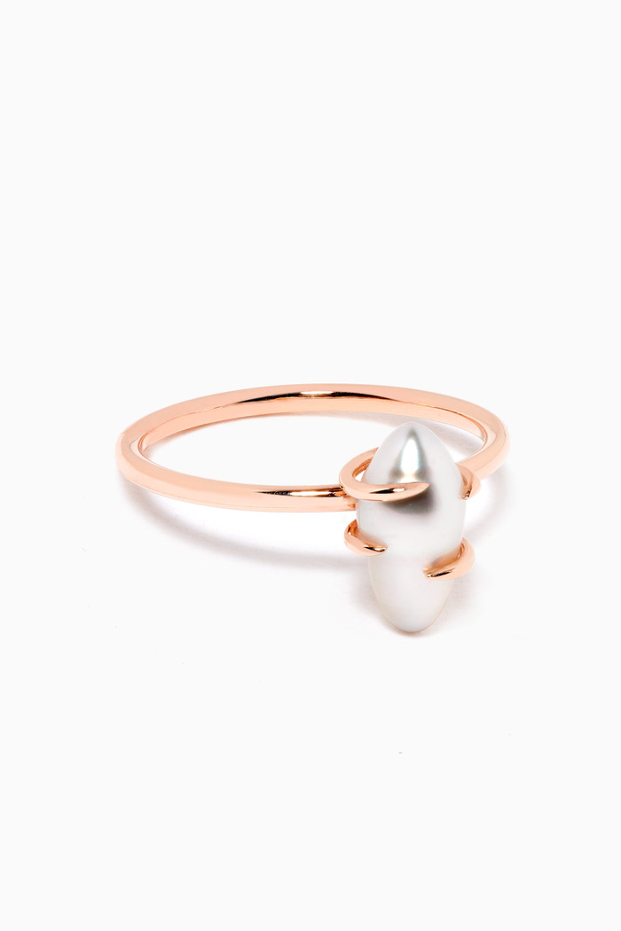 Pearl Ring in 18kt Rose Gold