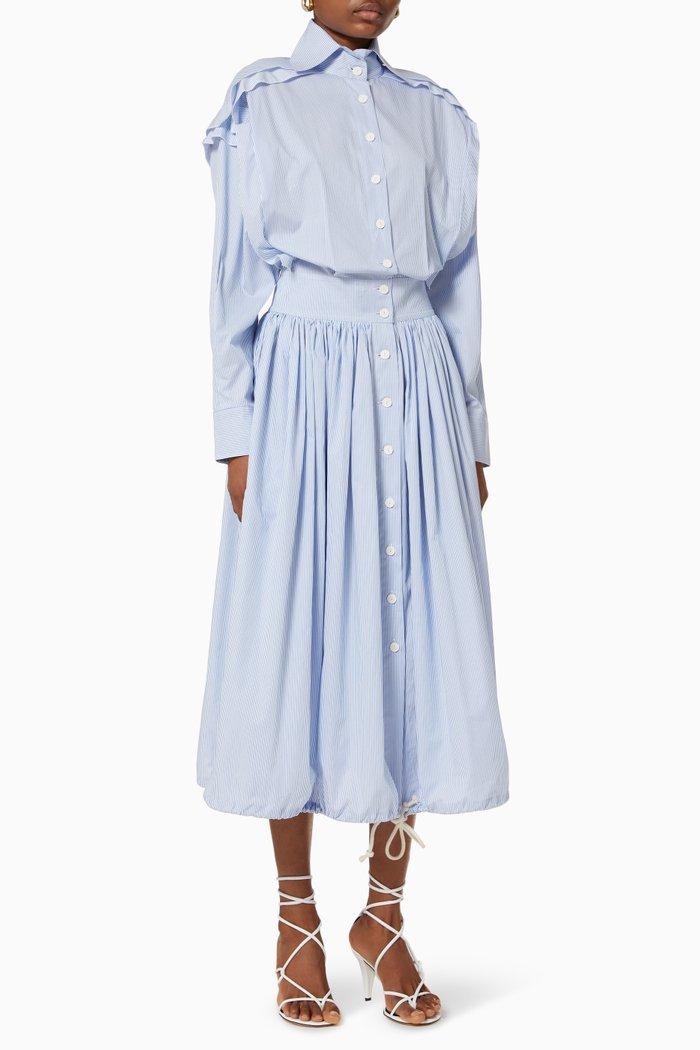 Bursting Excitement Shirt Dress in Cotton