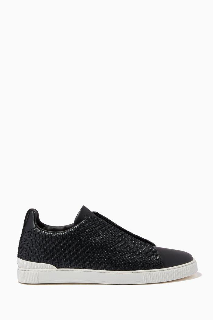 Triple Stitch Sneakers in PELLETESSUTA™ Calfskin and Nappa