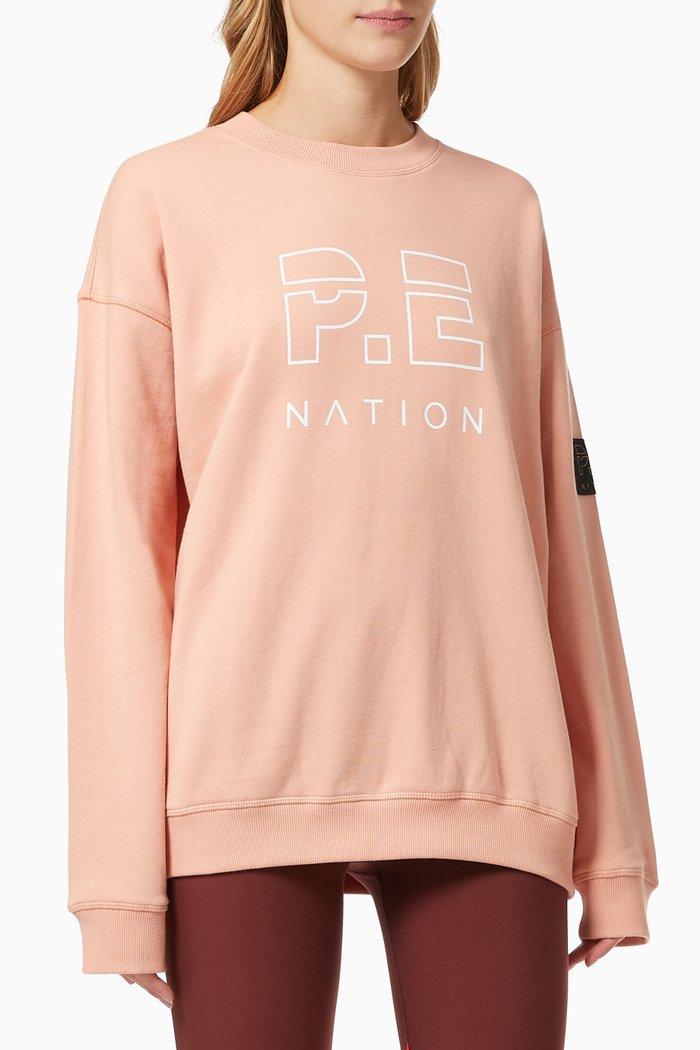 Heads Up Sweatshirt in Cotton
