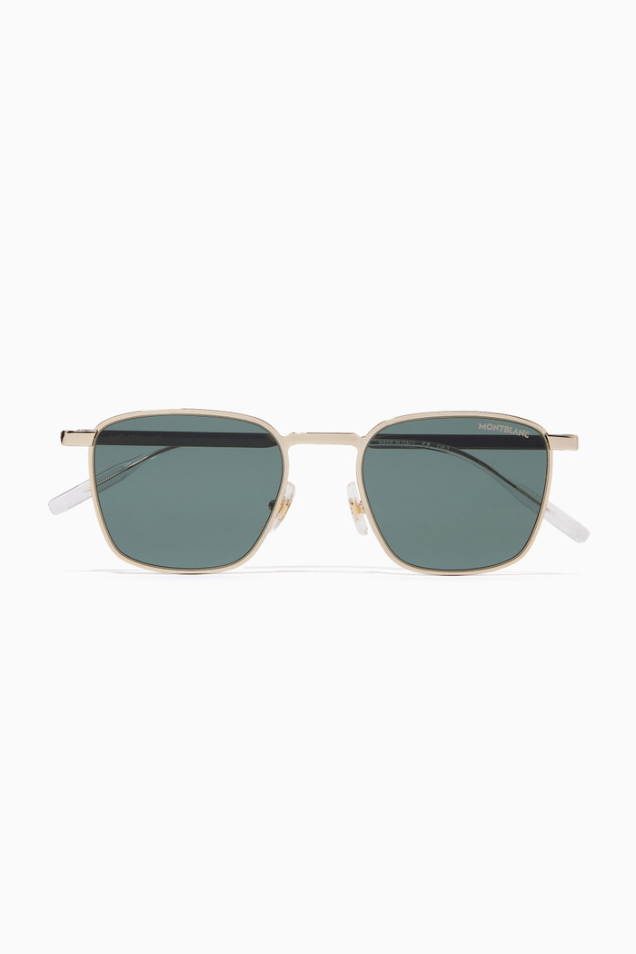 Square Frame Sunglasses in Metal
