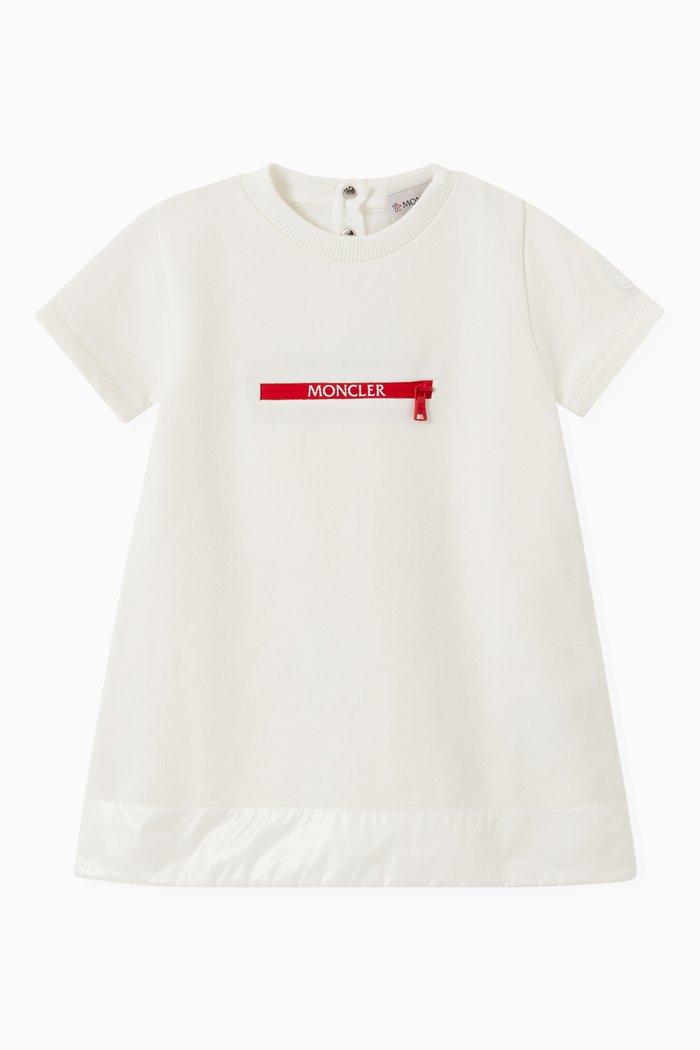 Logo Print Dress in Cotton