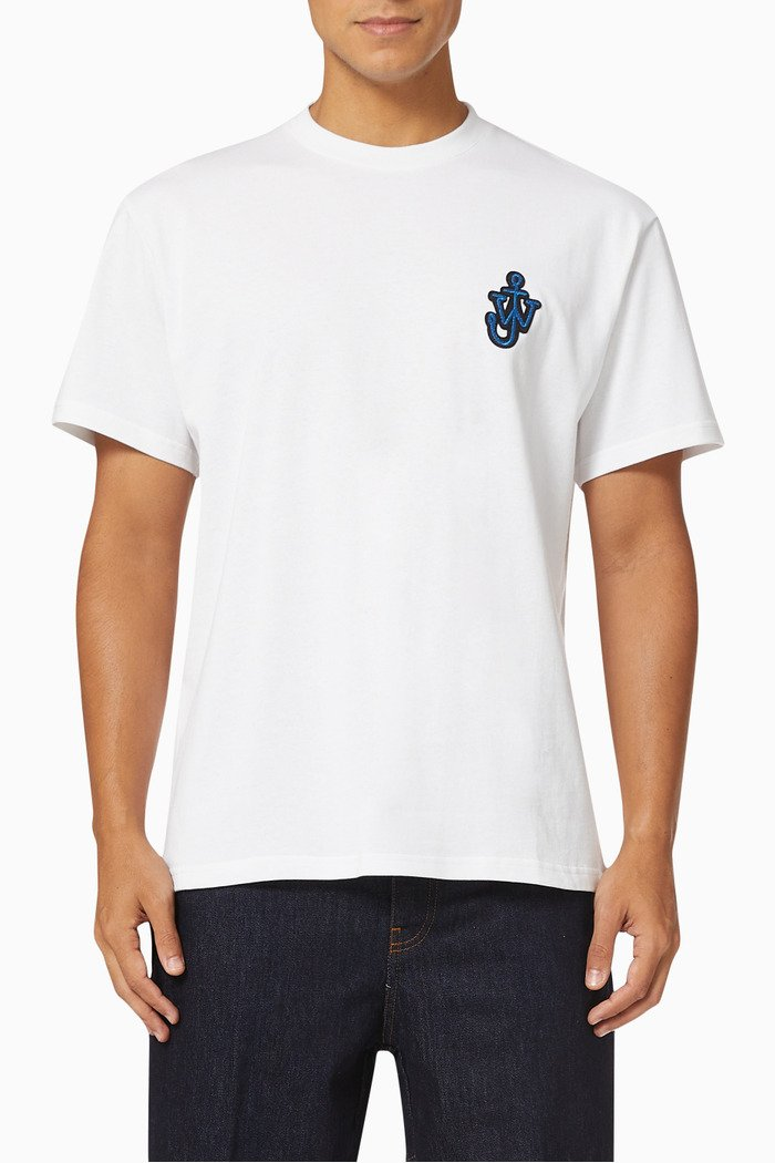 Anchor Patch T-shirt in Cotton