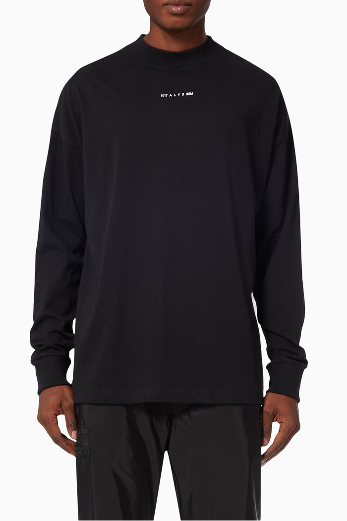 Visual Long Sleeve T-shirt in Recycled Cotton