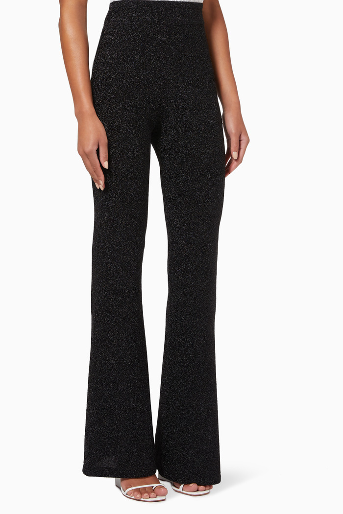 Island Night Pants in Stretch Textured Fabric