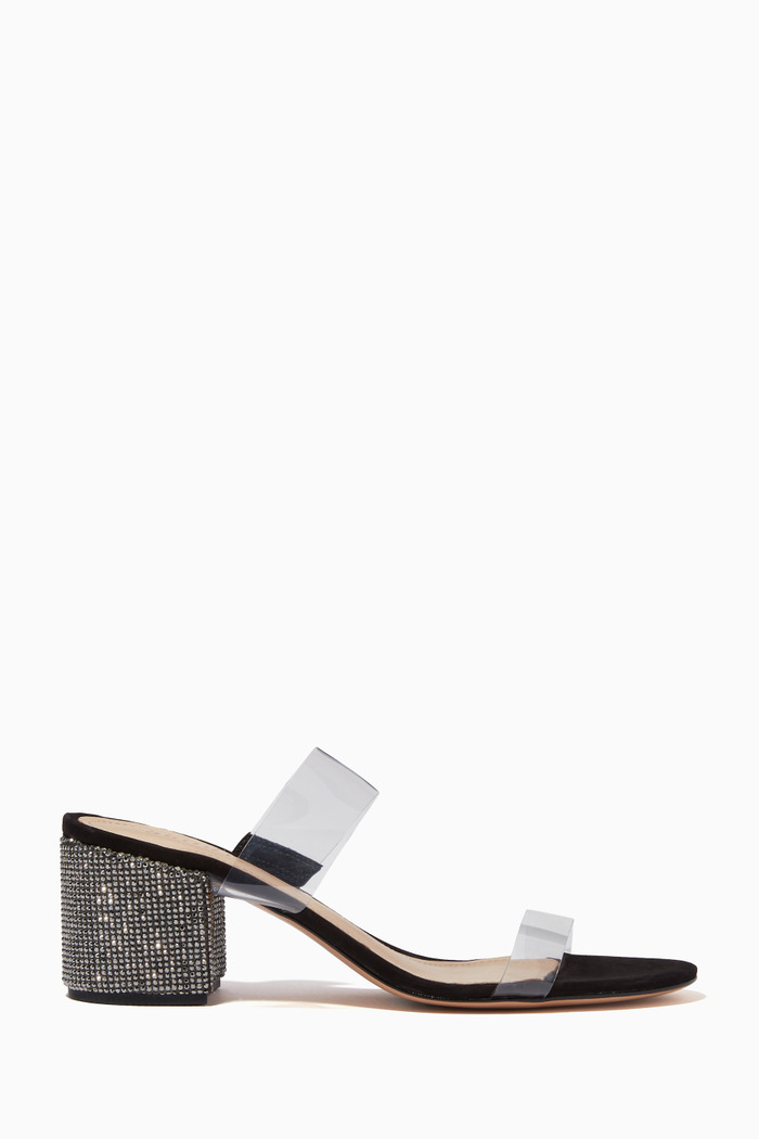 Victoire Crystal Sandals in Leather