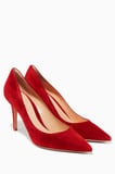 Red Italian Suede Pumps