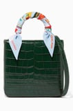 Dark-Green Crocodile Mini Square F Bag
