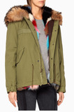 Green Fur-Trimmed Army Parka