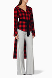 Red & Black Checked Kirsten Top