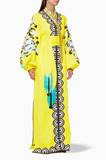 Yellow Embroidered Favourite Wife Kaftan