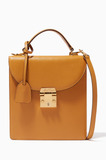 Mustard-Yellow Uptown Top-Handle Bag