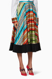 Multi-Coloured Striped Alice Skirt