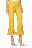 Gold Bernadine Lace Pants