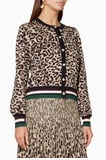 Bown Leopard Knitted Calendre Cardigan
